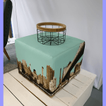 Hocker New York skyline (te koop)