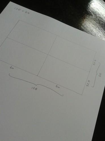 Tekening om het midden te bepalen voor hoofdbord bed maken