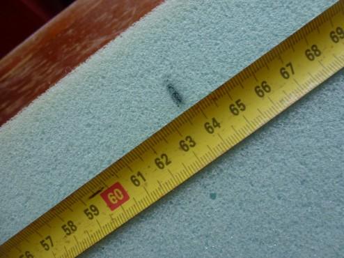Aftekenen plaats van knopen voor hoofdbord bed