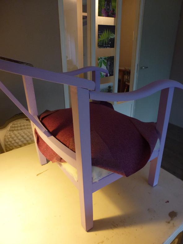 Zeer Stoel opnieuw bekleden met meubelstof - @KT35