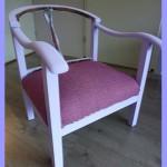 Stoel opnieuw bekleden met meubelstof