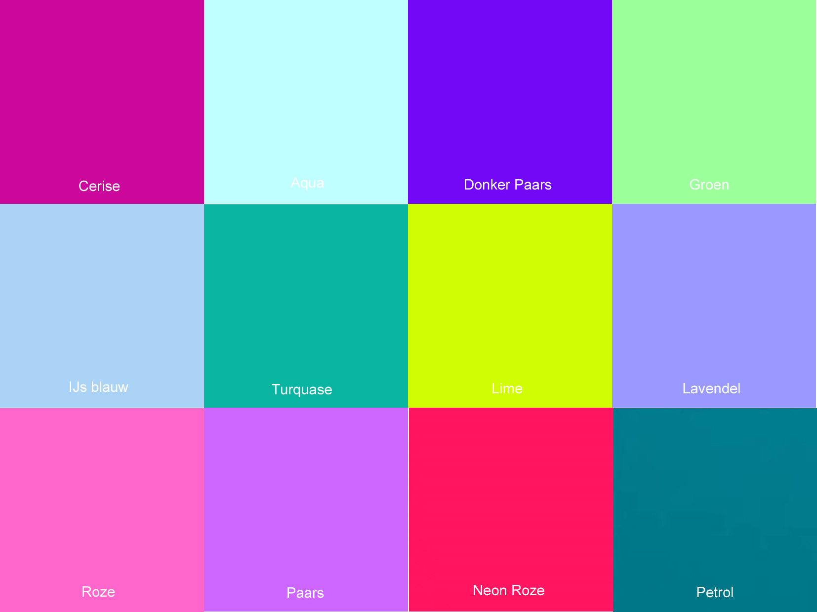 verschillende kleuren paars