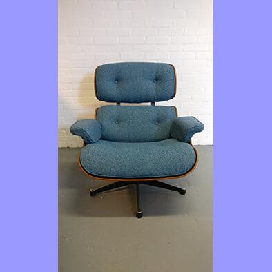 Eames Lounge chair opnieuw bekleed